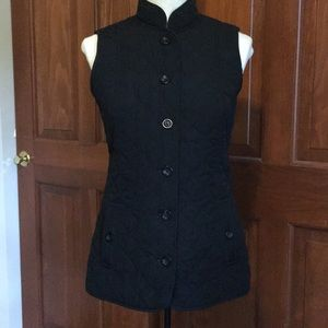 J Jill black quilted vest size XS